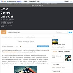 Rehab Centers Las Vegas - Rehab Centers Las Vegas