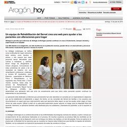 Un equipo de Rehabilitación del Servet crea una web para ayudar a los pacientes con alteraciones para tragar