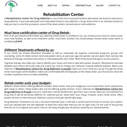 Rehabilitation Centre For Drug Addiction in punjab