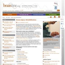 Εγκέφαλος τραυματισμών Αποκατάστασης - Εγκέφαλος τραυματισμών Resource