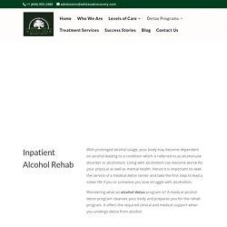 alcohol rehab center California