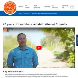 40 years of sand dune rehabilitation at Cronulla - Soil Conservation Service