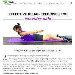 Effective Rehab Exercises for Shoulder Pain