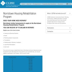 Norristown Housing Rehabilitation Program - Home Improvement Program