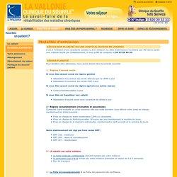 Clinique du Souffle La Vallonie à Lodève : réhabilitation de l'insuffisance respiratoire et cardiaque chronique › VOUS ÊTES UN PATIENT ? › Modalités d'admission