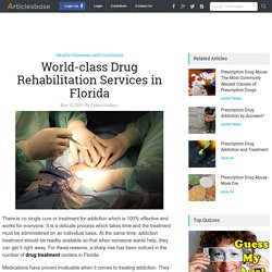 World-class Drug Rehabilitation Services in Florida