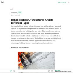 Rehabilitation Of Structures And Its Different Types