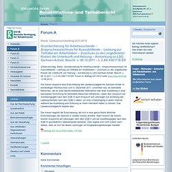 Reha‐Recht Portal für Rehabilitationsrecht, Teilhaberecht, Schwerbehindertenrecht, Arbeitsrecht: Diskussionsbeitrag A21-2012