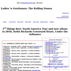 The Rolling Stones Tour 2013 - up for new projects: 2013 dates, new studio sessions, major documentary