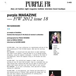 Rei Kawakubo - purple MAGAZINE