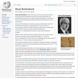 Harry Reichenbach