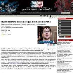 Rudy Reichstadt est délégué du maire de Paris
