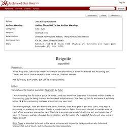 Reignite - augustbird - Sherlock (TV