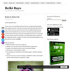 Reiki in Daily Life