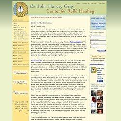 Reiki for self healing