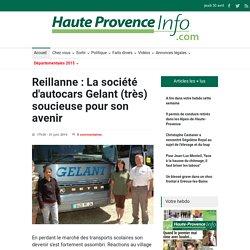 Reillanne : La soci t d'autocars Gelant (tr s) soucieuse pour son avenir - Haute Provence Info