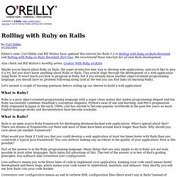 Rolling with Ruby on Rails