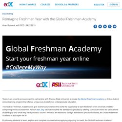 Reimagine Freshman Year with the Global Freshman Academy