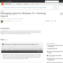 Reimaging rights for Windows 10 – licensing how-to