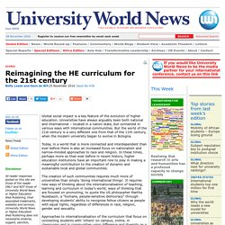 Reimagining the HE curriculum for the 21st century
