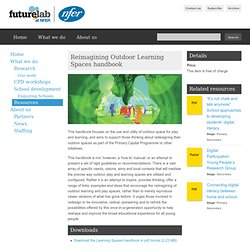 Reimagining Outdoor Learning Spaces handbook
