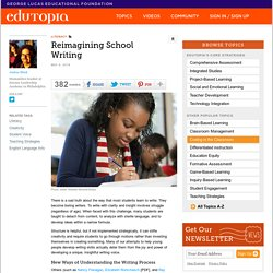 Reimagining School Writing