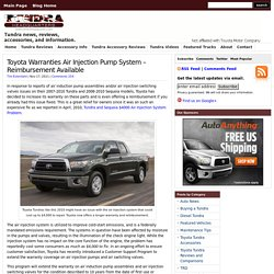 Toyota Warranties Air Pump System - Reimbursement Available