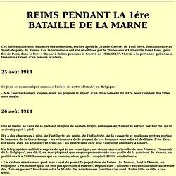 REIMS PENDANT LA 1ére BATAILLE DE LA MARNE