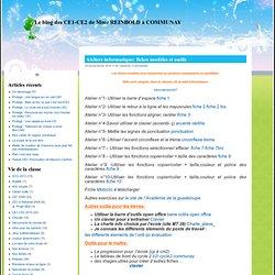 Le blog des CE1-CE2 de Mme REINBOLD à COMMUNAY » Ateliers informatique: fiches modèles et outils