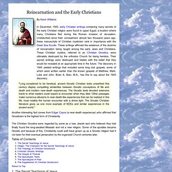 Reincarnation and the early Christians