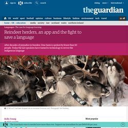 Reindeer herders and the fight to save a language