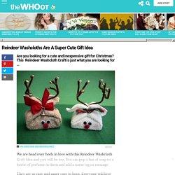 Reindeer Washcloth Craft Christmas Gift Idea Video Tutorial