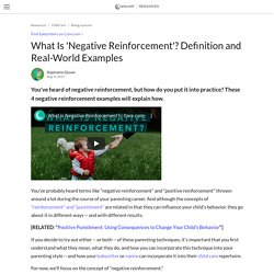 What Is 'negative Reinforcement'? Definition And Real-World Examples