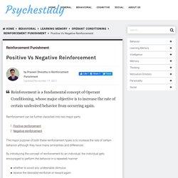 Positive Vs Negative Reinforcement - Psychestudy
