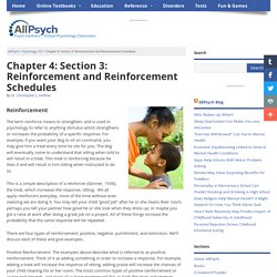 Reinforcement and Punishment in Psychology 101 at AllPsych Online