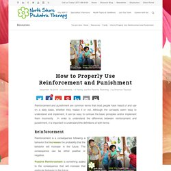 How to Properly Use Reinforcement and Punishment - North Shore Pediatric Therapy