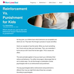 Reinforcement Vs. Punishment for Kids (And Examples)