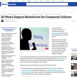 20 Ways Zappos Reinforces Its Company Culture