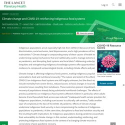 Climate change and COVID-19: reinforcing Indigenous food systems - The Lancet Planetary Health