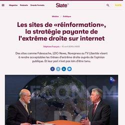 Les sites de «réinformation», la stratégie payante de l'extrême droite sur internet