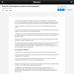 Hinweise zur Reinigung von Ruß aus Kaminkassetten on Behance