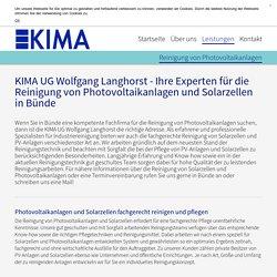 Reinigung von Photovoltaikanlagen in Bünde