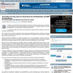 Une faille zero-day dans le mécanisme de réinitialisation de MdP de WordPress, pourrait permettre à des attaquants de prendre le contrôle