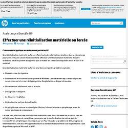 Utilisation de la réinitialisation matérielle pour résoudre les problèmes matériels et logiciels Ordinateur portable HP Pavilion zv6026EA - Assistance Technique HP (France - Français)