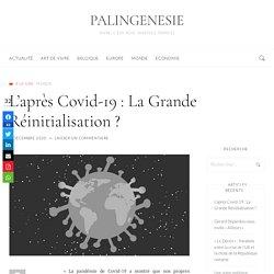 L'après Covid-19 : La Grande Réinitialisation ? - PALINGENESIE