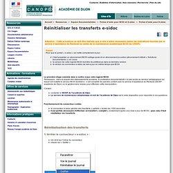 Réinitialiser les transferts e-sidoc