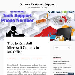 Tips to Reinstall Microsoft Outlook in MS Office – Outlook Customer Support