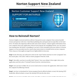 How to Reinstall Norton? – Norton Support New Zealand