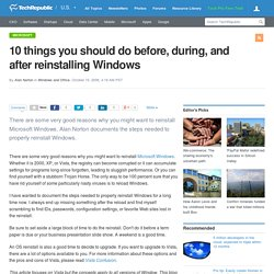 10 things you should do before, during, and after reinstalling Windows