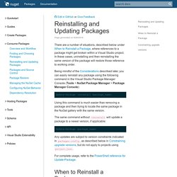 Reinstalling And Updating Packages